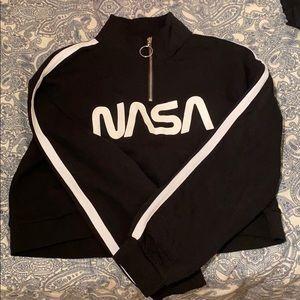 NASA cropped sweatshirt